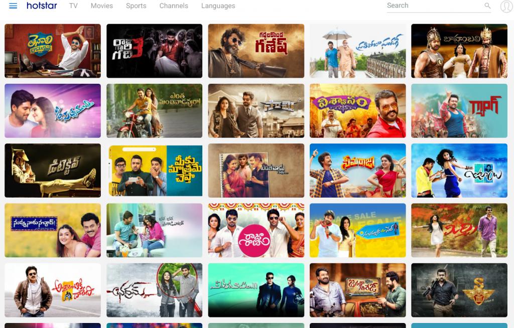 Hotstar Telugu Contents