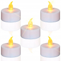 Tea Lights Flameless Led Candles:24 Pack Flickering Warm Yellow 100 Hours $5.99 ($12)
