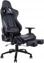 Von Racer Massage Footrest Ergonomic Floor Reclining Gaming Chair for $87.99