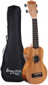 Strong Wind Soprano Ukulele Mahogany 21-in Hawaiian Uke Guitar