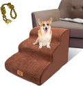 LeadHom 3-Tiers Non-Slip 3 Steps Pet Stairs w/Dog Toy Rope for $33.16