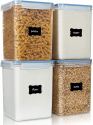 4-Pieces Vtopmart Large Food Storage Containers 5.2L 176oz for $23.99