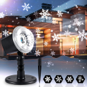 Christmas Snowflake Projector Lights Outdoor, Holiday Projector LED Light $15 ($50) Shipped